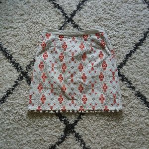 Maeve Blommo pom pom trim skirt with pockets